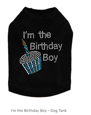 I'm the Birthday Boy - Dog Tank - Choose Color