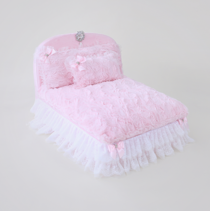 The Enchanted Nights Dog Bed - Baby Doll Pink