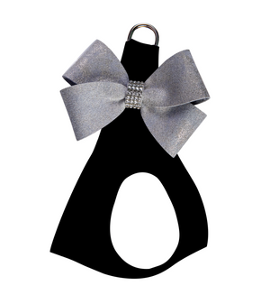 Black Step in Harness with Platinum Glitzerati Nouveau Bow