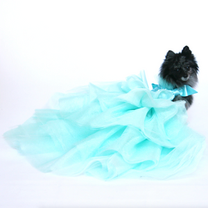 Aqua Tulle and Sequin Party Dress - Size S (Custom Order Available)