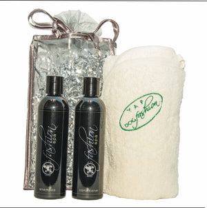 Toxin-Free Set, Shampoo, Conditioner & Bath Towel