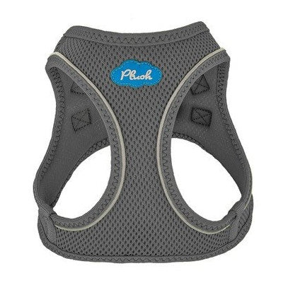 Shark Grey Plush Step In Vest Air-Mesh Harness