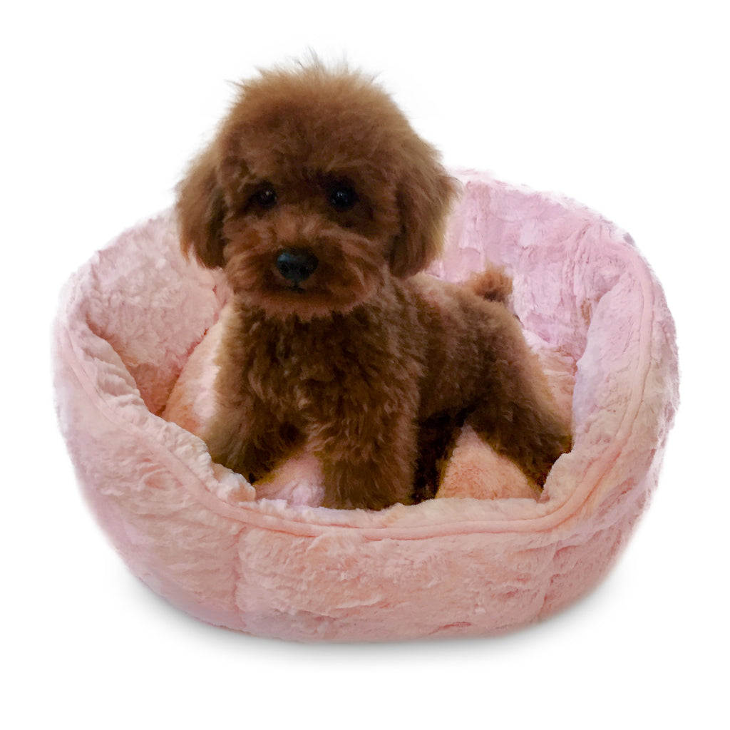 Bella Pink Faux Fur Shell Bed
