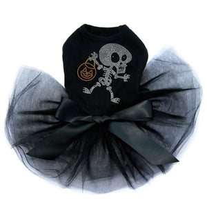 Trick or Treat Skeleton - Tutu - Black, Pink or Red