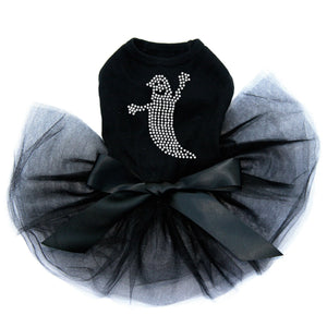 Skinny Rhinestone Ghost - Tutu - Black, Pink or Red