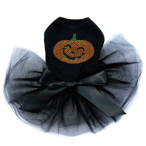 Smiling Jack-o-lantern - Tutu - Black, Pink or Red