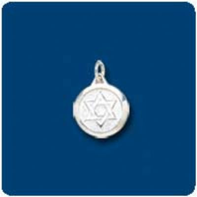 Star of David Sterling Silver Medallion Charm