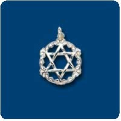 Star of David Sterling Silver Pendant Charm
