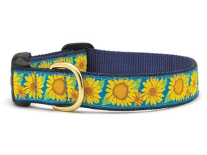 Bright Sun Flowers Dog Collar