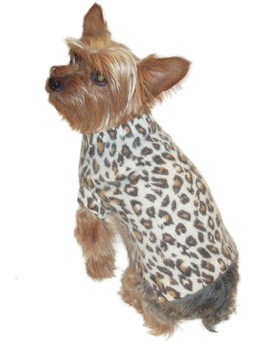 Luxury Animal Instincts Mock Neck Angora Blend, Ivory Leopard