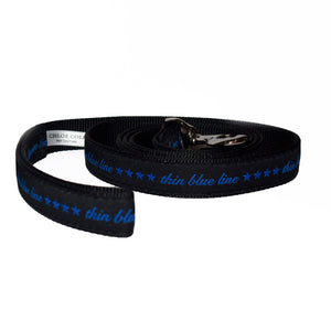 Thin Blue Line Stars Leash (Black)