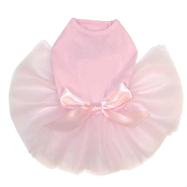 Tutu Cute Dog Dress No Bling - Pink