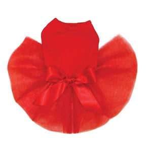 Tutu Cute Dog Dress No Bling - Red
