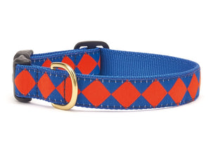 Blue Orange Dog Collar
