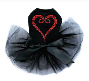 Red Rhinestone Heart - Tutu
