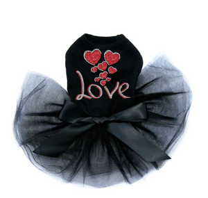 Love with Red Glitter Hearts - Tutu