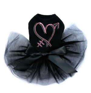 Pink Sequin Heart with Arrow - Tutu