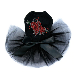 Red Rhinestone Hearts with Arrow - Tutu
