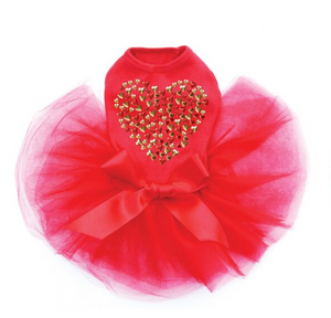 Red & Gold Nailhead Hearts - Tutu