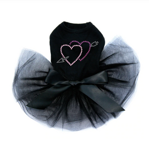 Pink & Purple Hearts with Arrow - Tutu