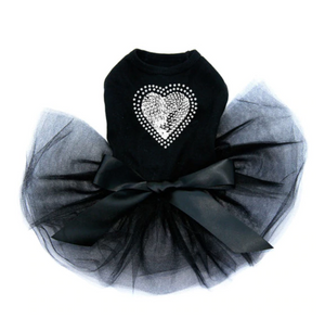 Sequin Silver Heart - Tutu