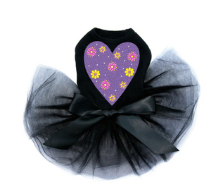 Purple Glitter Heart - Tutu