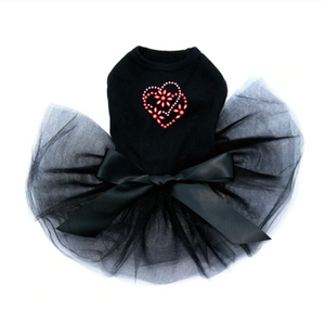 Pink & Red Flower Heart - Tutu