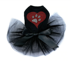 Red Heart with Paw #2 - Tutu