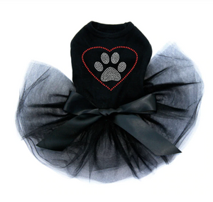 Heart with Paw - Tutu