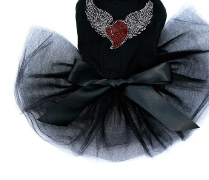 Heart with Iridescent (AB) Wings - Tutu