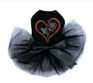 Heart with Rose - Tutu