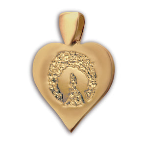 Gold (14k) Heart Pet Print Charm
