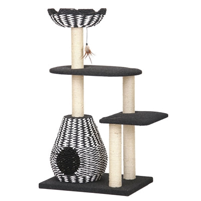 Ace Black and White Scratching Post