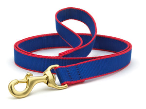 Royal Blue & Red Bamboo Cat Leash and Harness Set