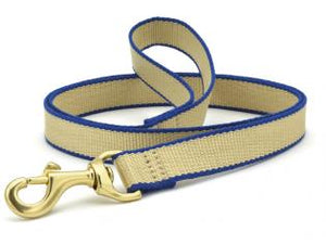 Tan And Royal Blue Bamboo Dog Leash