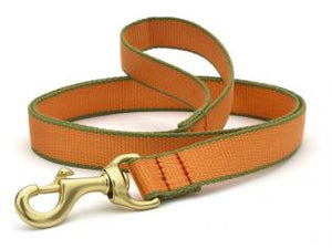 Tangerine And Pine Green Bamboo Dog Leash