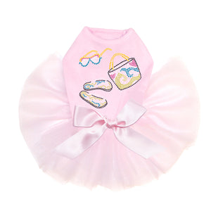 Beach Accessories Pink Dog Tutu