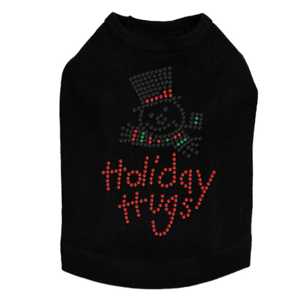 Holiday Hugs - Dog Tank Black