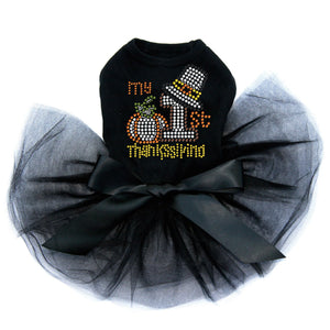 My First Thanksgiving- Tutu - Black, Pink or Red