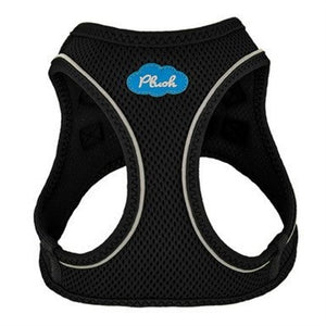 Black Plush Step In Vest Air-Mesh Harness