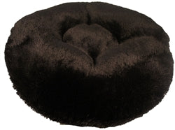 Black Shag Round Beds