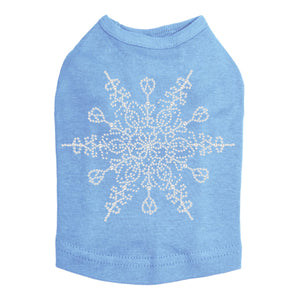 Extra Large Snowflake - Dog Tank Blue