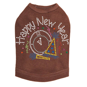 Happy New Year Clock - Dog Tank Brown