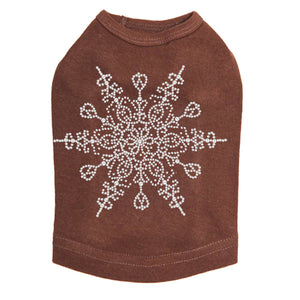 Extra Large Snowflake - Dog Tank Brown