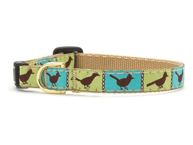 Blue and Green Songbird Cat Collar
