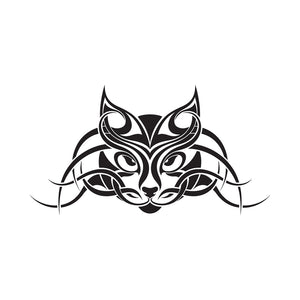 Tribal Face Cat Tattoo