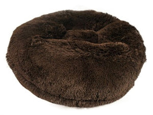 Chocolate Shag Round Beds