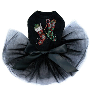 Christmas Stockings Dog Tutu Dress
