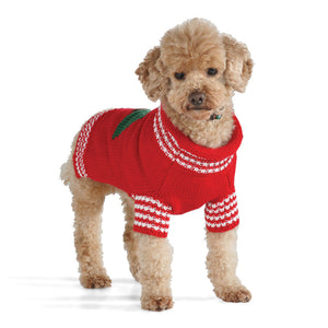 Christmas Tree Hand Knit Dog Sweater