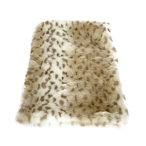 Sno Leopard All Plush Crate Liner